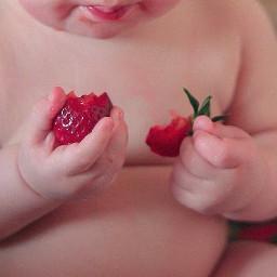 дети клубника малыш счастье эмоджи