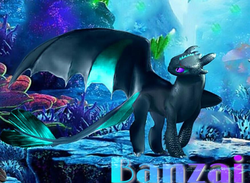Banzai,my new Oc.  #oc #httyd #httydedit #nightlight #nightlightedit #nightfury #lightfury  #freetoedit