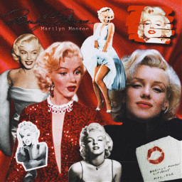 freetoedit marilynmonroe red lipstick glitter