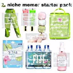 nichememe niche meme starterpack fijiwater freetoedit