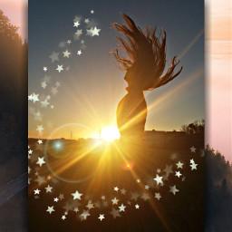 freetoedit girl sun sunshine закат