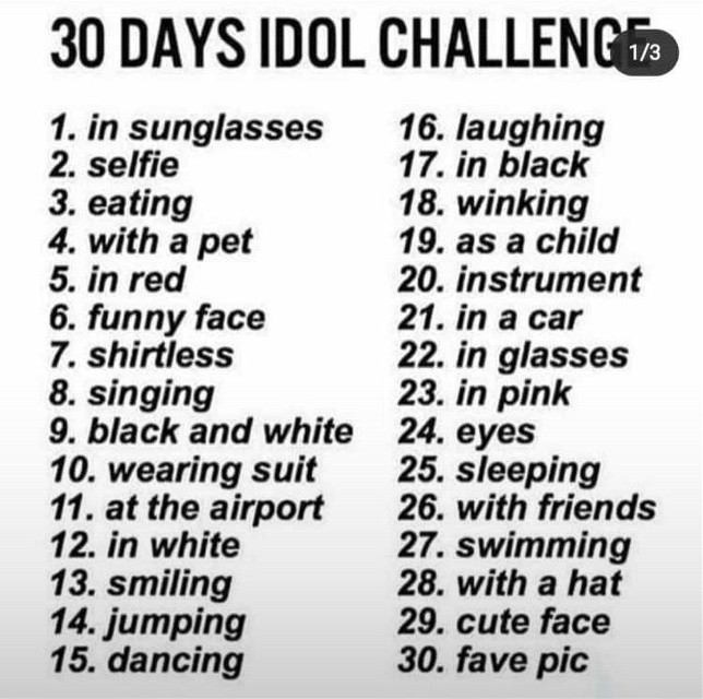 I will do it with Millie Bobby Brown but I will publish more than one photo per day