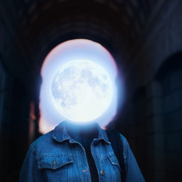 freetoedit remixit moon portrait surreal ecsurrealisticworld