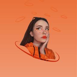 фая оранжевый арт арты аутлайн