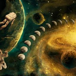 espacio space astronautas astronauts moons