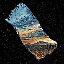 space galaxy picture brushes mountains