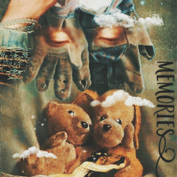 art fantasy oldgloves moon teddybears love memories tenderness magical dreamy stestyle ste2020 madewithpicsart