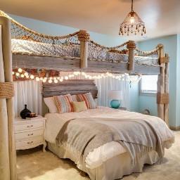 beachtheme cute fairylights bed rope freetoedit