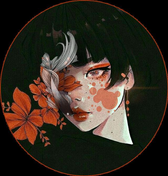 #freetoedit #anime #animegirl #japan #orange #icon #iconanime #fish #girl #black #flower #flowers #flores #flor #anaranjado #naranja #negro #chica #pez
