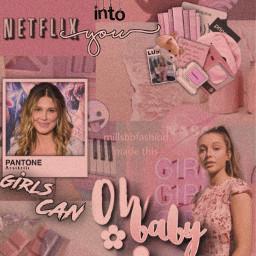 emmachamberlain milliebobbybrown pink girls teenagers freetoedit