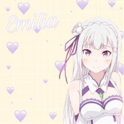 freetoedit emilia rezero anime weeb