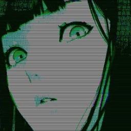 anime animegirl sorpresa green black