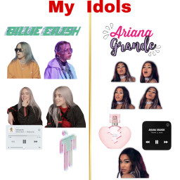 freetoedit billieellish arianagrande billie eilish