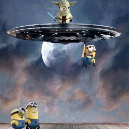 freetoedit minions universal aliens space