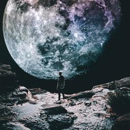 space alone bigmoon surrealism madewithpicsart