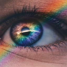 pridemonth eye eyes rainbow freetoedit