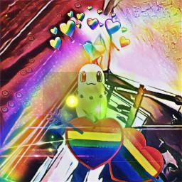 freetoedit chikorita pride pokemon pokemongo