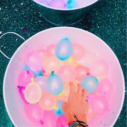 vsco waterballoons summer aesthetic rainbow