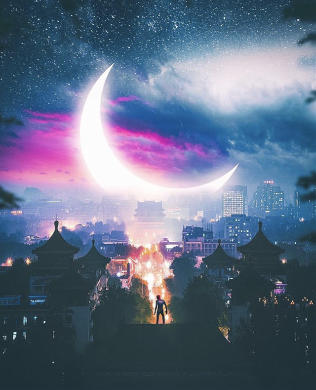#picsart #remixit #freetoedit #sky #clouds #moon #sunset #sunrise #trees #silhouette #city #spiderman #moon #png #edit #stars #night #milkyway #japan #view