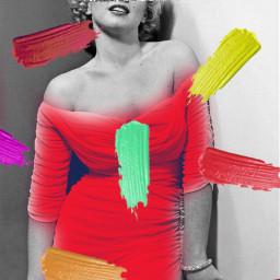 freetoedit womaninred colors marilynmonroe marilyn srccolorpalette colorpalette colorpallet