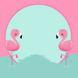 frame flamingo cute stayinspired createfromhome freetoedit ftestickers