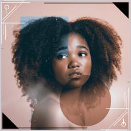 freetoedit girl geometry blackbeauty pretty