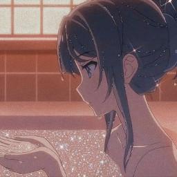 aesthetic stars shygirl anime bathtime