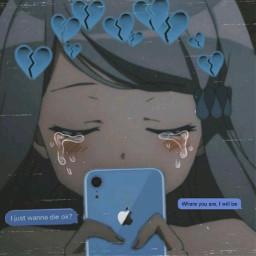 sad aesthetic sadgirl blush heartbroken freetoedit