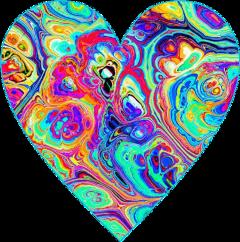 freetoedit heart trippy paint art