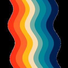 freetoedit aesthetic retro color rainbow