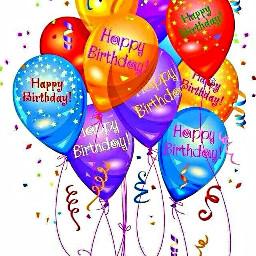 freetoedit balloons happy birthday text