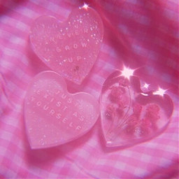 hearts flower pink sparkle aesthetic freetoedit