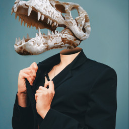 freetoedit remixit surreal portrait dinosaur