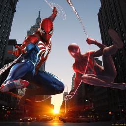 spiderman spidermanps4 peterparker milesmorales ps4