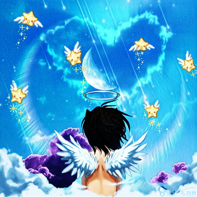 Just a little edit #stickers #clouds #angel #freetoedit