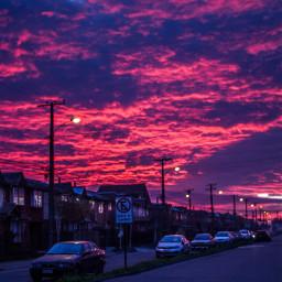 city house sunset pinksunset love pcmyhometown myhometown