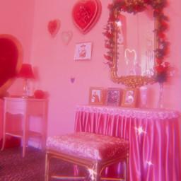 pink vanity vintage sparkle aesthetic freetoedit