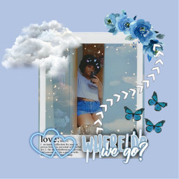 freetoedit postaesthetic aesthetic blueaesthetic butterflyblue