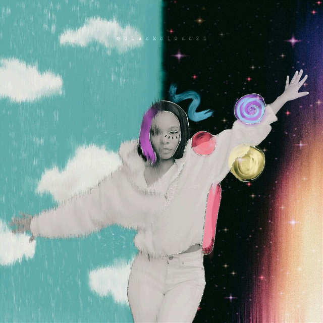 #freetoedit #madewithpicsart #colorful #girl #stars #clouds #sky #galaxy #magical @picsart