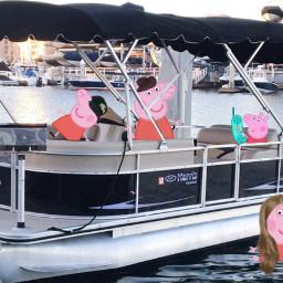 freetoedit peppapig peppa pig boat
