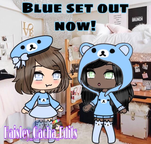 Blue set complete! I hope you enjoy it 🤗💙✨🧸 #gacha #gachalife #bear #cute #blue #freetoedit