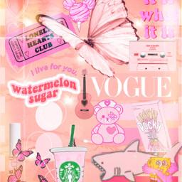 pinkaesthetic pink vouge starbucks bear freetoedit