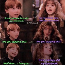 hermionegranger ronweasley dramione dramione4ever