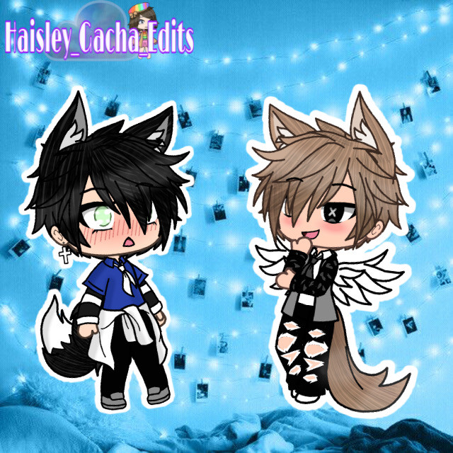 I made two gacha boys! But idk why I did! Also I am making two bear sets currently 🧸🎀 #gacha #gachalife #gachaboy #blueaesthetic #cute #aesthetic #freetoedit