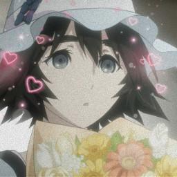 mayuri steinsgate anime aesthetic sparkles