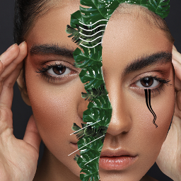 freetoedit woman aesthetic jungle flower