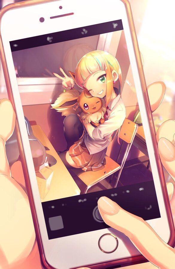 ♥️♥️♥️♥️🔴Évoli🔴♥️♥️♥️♥️♥️                                #freetoedit #evoli #pokemon #phone #photography #photo #girl