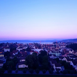 evening sky lake view june