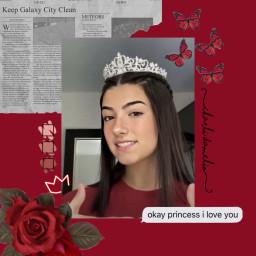 freetoedit charliedamelio tiktokstar princess queen