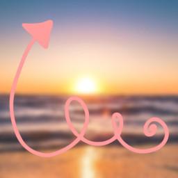 freetoedit arrow beachsunset